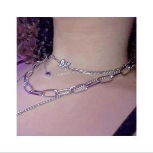 › 〉 🤍 .ೃ  butterfly necklace › 〉 🤍 .ೃ